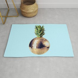 Ananas party (pineapple) blue version Rug