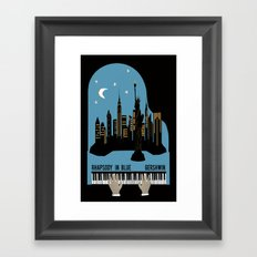 Rhapsody in Blue - Gershwin Framed Art Print