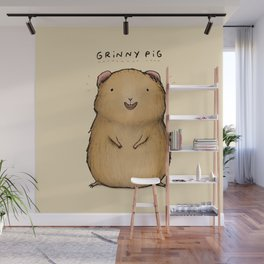 Grinny Pig Wall Mural