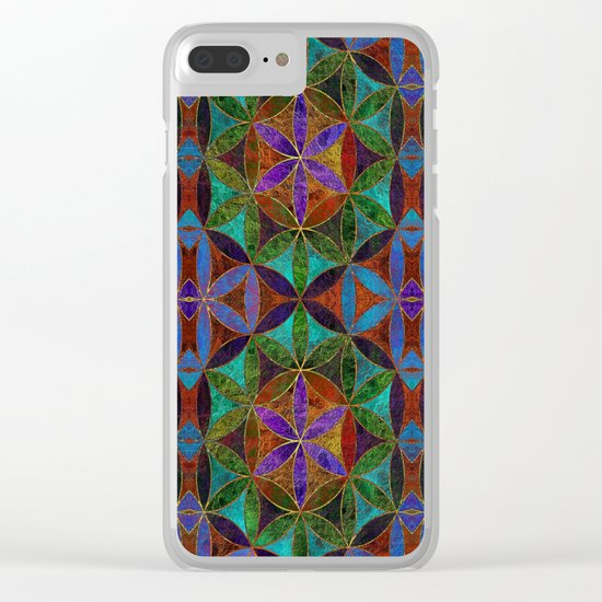 The Flower of Life (Sacred Geometry) 2 Clear iPhone Case