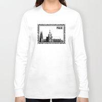 prague Long Sleeve T-shirts featuring Prague castle by siloto