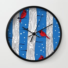 Cardinal birds Wall Clock