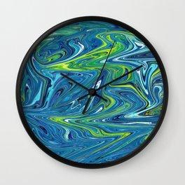 AQUAMARINE MARBLE SWIRL Wall Clock