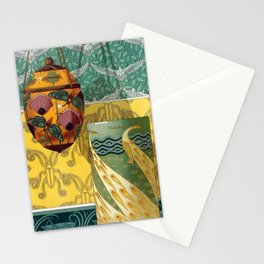 Maurice Pillard Verneuil - Papillons et pavots Stationery Cards