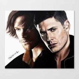 Drawing: Sam & Dean Canvas Print