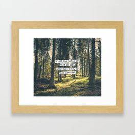 Dirt Paths Framed Art Print