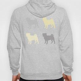 Grey and Yellow Pugs Pattern Hoody
