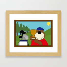 WE♥GOLF Framed Art Print
