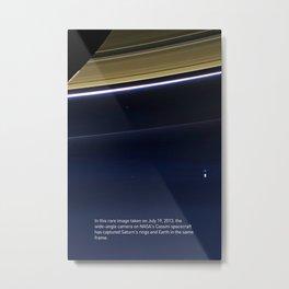 Pale Blue Dot - Cassini Metal Print