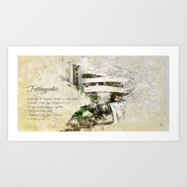 Fallingwater Landscape Art Print