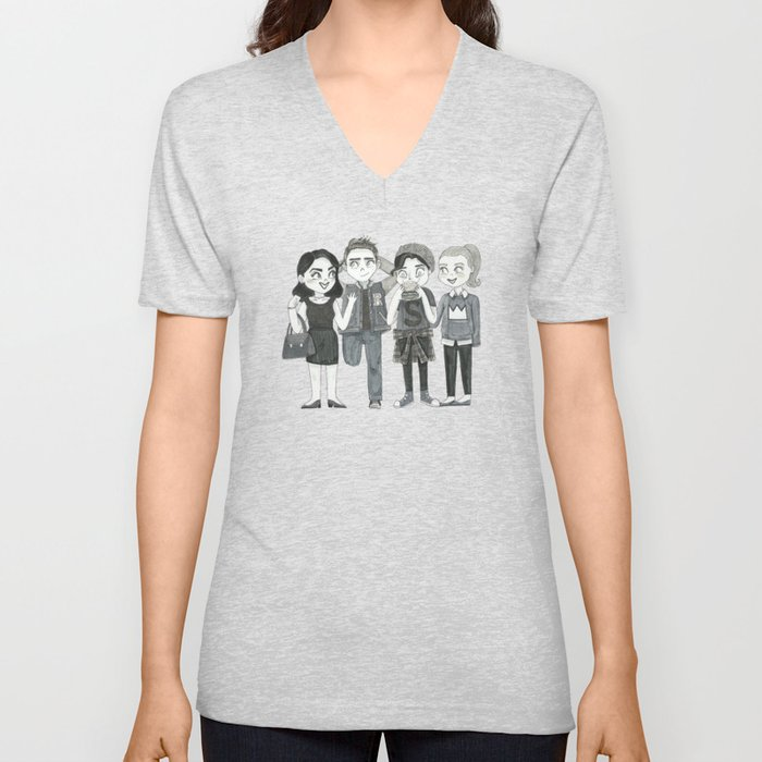 21033dcf80aa7 Riverdale - Archie, Veronica, Betty, Jughead Unisex V-Neck by  conshillustration