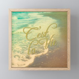 Beach Waves I - C'est La Vie Framed Mini Art Print