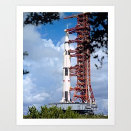 NASA Apollo 17 Spacecraft 1972 Art Print