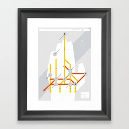 The Michigan Highway System Framed Art Print
