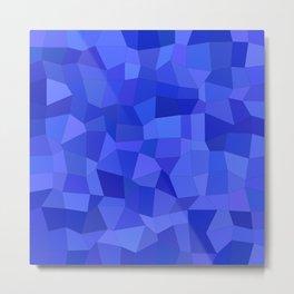 Blue mosaic tiles Metal Print