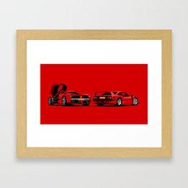 Rosso Corsa Framed Art Print