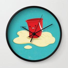 Damn Beach Wall Clock