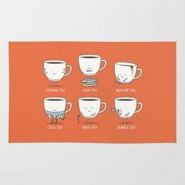 Types of tea Rug