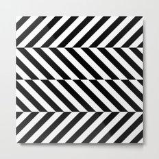 Black and White Op Art Design Metal Print