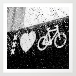 xxx Heart Bike Art Print