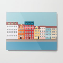 Nyhavn, Copenhagen, Denmark - South Metal Print