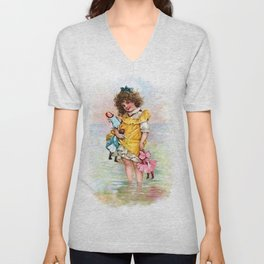 My Dollies and Me Unisex V-Neck
