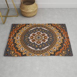 Fall Symmetrical Pattern Rug
