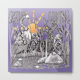 Zentangle Daylight in the Swamp Metal Print