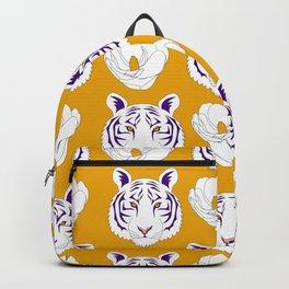 LSU yellow Backpack