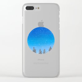 Snowy trees Clear iPhone Case
