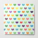 Colorful hearts by uniqued