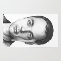 bazinga Area & Throw Rugs featuring Sheldon Cooper by Olechka