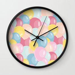 Happy birthday party balloons Wall Clock