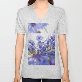 Cornflower and chamomile many flowers Unisex V-Neck