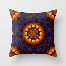 Geometric repetitive pattern. Circular futuristic abstract shapes. Alien Patterns Throw Pillow