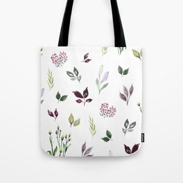 Tiny watercolor leaves Tote Bag