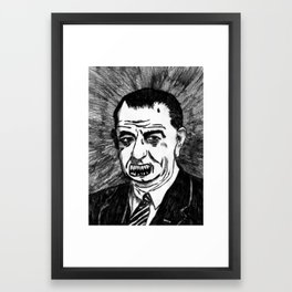 36. Zombie Lyndon B. Johnson Framed Art Print