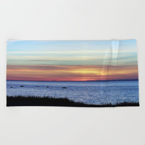 Sunset in the Clouds Beach Towel