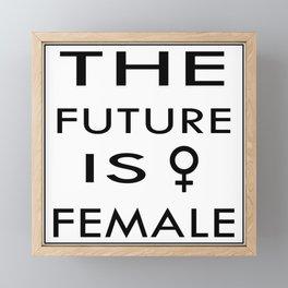 The future is Female Framed Mini Art Print
