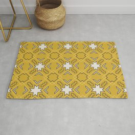 Ethnic pattern in yellow Rug