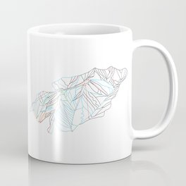 Park City, UT - Minimalist Trail Art Coffee Mug