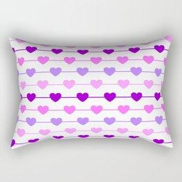 Hearts - Pink and Purple Rectangular Pillow