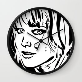 Jennifer Lawrence Stencil Portrait Wall Clock