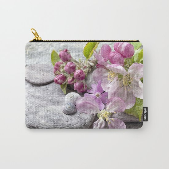 Appleblossom and shell still life Carry-All Pouch