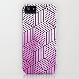 Cubism Lilac Watercolor iPhone Case