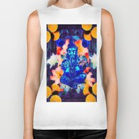 ganesh Biker Tanks featuring ganesh by Candice Steele Collage and Design
