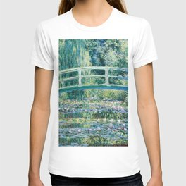 1899-Claude Monet-Water Lilies and Japanese Bridge T-shirt