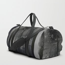 Matematica: Silver And Black Duffle Bag