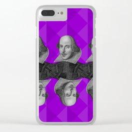 Purple Shakespeare Clear iPhone Case