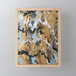 Abstract Music Gold Calypso pattern Framed Mini Art Print
